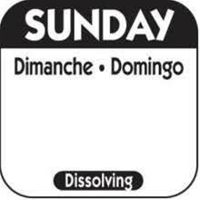 Dissolvable Day Labels