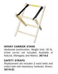 1017842- Infant Carrier Holder Walnut
