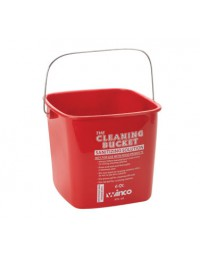 PPL-6R- 6 Qt Cleaning Bucket Red